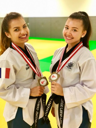 Mathilde et Liana medaillees a l'Open d'Autriche